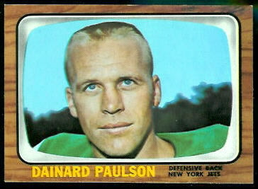 Dainard Paulson 1966 Topps football card