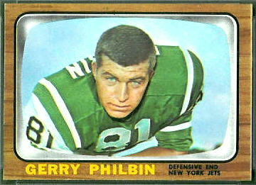 Gerry Philbin 1966 Topps football card