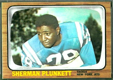 Sherman Plunkett 1966 Topps football card