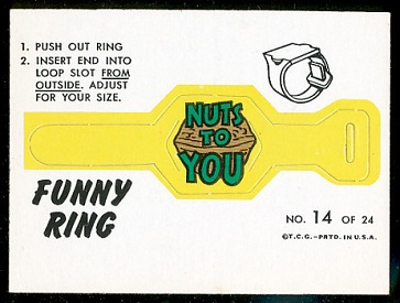 Nuts to You 1966 Topps Funny Rings football card
