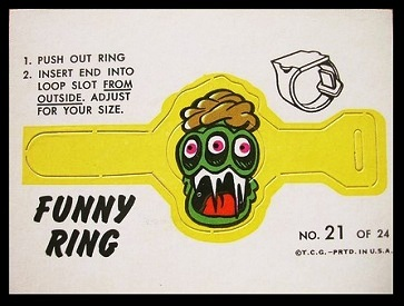 Mr. Fright 1966 Topps Funny Rings football card