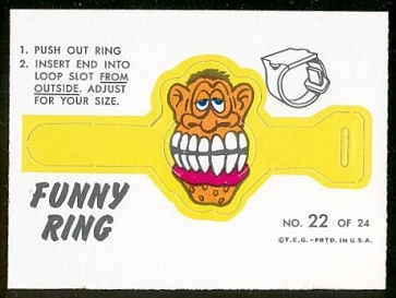Mr. Boo 1966 Topps Funny Rings football card