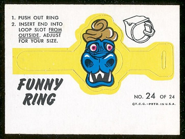 Mr. Blech 1966 Topps Funny Rings football card