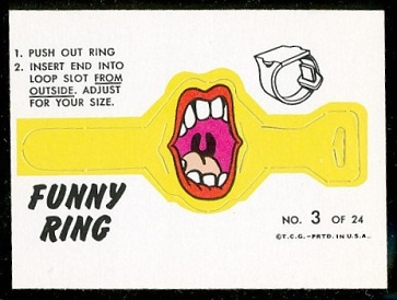 Big Mouth 1966 Topps Funny Rings football card