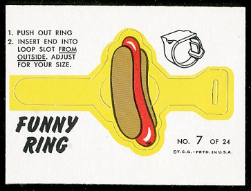 Hot Dog 1966 Topps Funny Rings football card