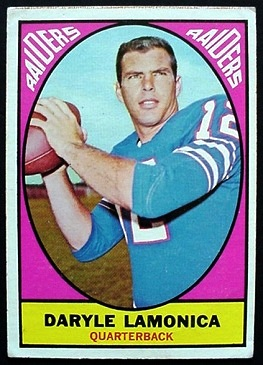 Daryle Lamonica 1967 Milton Bradley football card