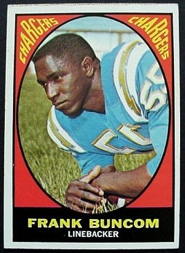 Frank Buncom 1967 Milton Bradley football card