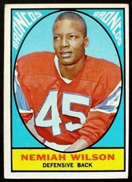 Nemiah Wilson 1967 Milton Bradley football card