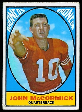 John McCormick 1967 Milton Bradley football card