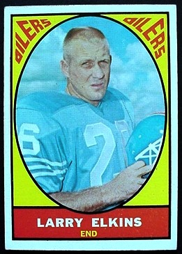 Larry Elkins 1967 Milton Bradley football card