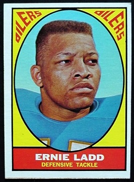 Ernie Ladd 1967 Milton Bradley football card