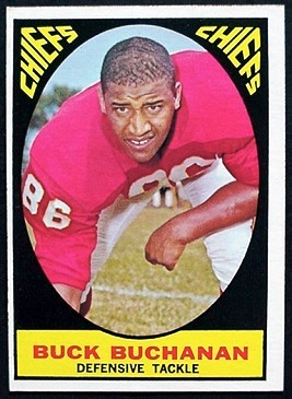 Buck Buchanan 1967 Milton Bradley football card