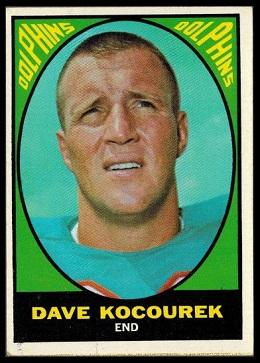Dave Kocourek 1967 Milton Bradley football card