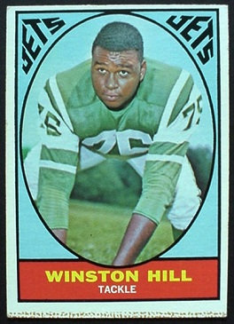 Winston Hill 1967 Milton Bradley football card