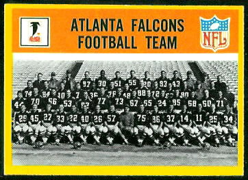 Atlanta Falcons Team 1967 Philadelphia football card