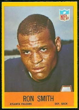 Ron Smith 1967 Philadelphia football card