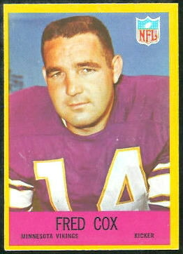 Fred Cox 1967 Philadelphia football card