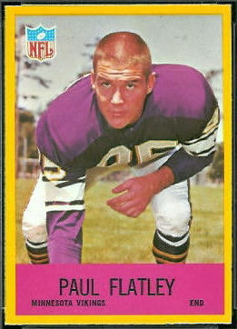 Paul Flatley 1967 Philadelphia football card