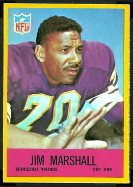 Jim Marshall 1967 Philadelphia football card