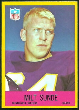 Milt Sunde 1967 Philadelphia football card