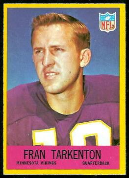 Fran Tarkenton 1967 Philadelphia football card