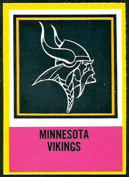 Vikings Logo 1967 Philadelphia football card