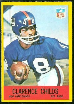 Clarence Childs 1967 Philadelphia football card
