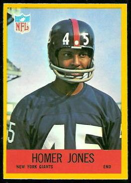 Homer Jones 1967 Philadelphia football card