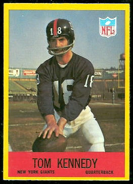 Tom Kennedy 1967 Philadelphia football card