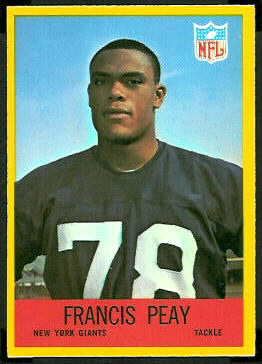 Francis Peay 1967 Philadelphia football card