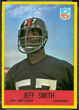 Jeff Smith 1967 Philadelphia football card
