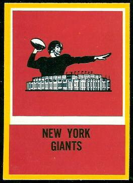 Giants Logo 1967 Philadelphia football card
