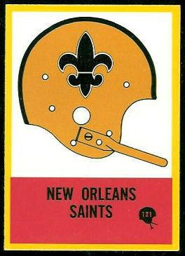 New Orleans Saints Team 1967 Philadelphia football card
