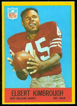 Elbert Kimbrough 1967 Philadelphia football card