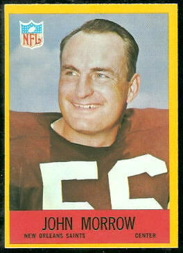 John Morrow 1967 Philadelphia football card