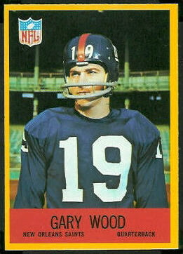 Gary Wood 1967 Philadelphia football card