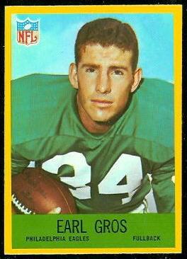 Earl Gros 1967 Philadelphia football card