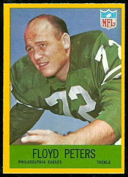 Floyd Peters 1967 Philadelphia football card
