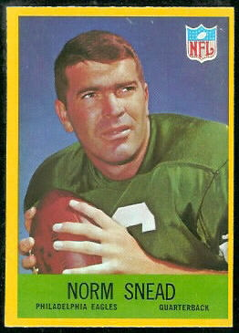 Norm Snead 1967 Philadelphia football card
