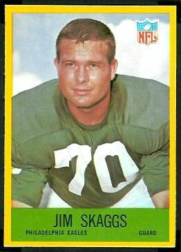 Jim Skaggs 1967 Philadelphia football card