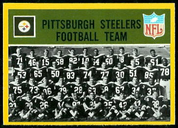 Pittsburgh Steelers Team 1967 Philadelphia football card