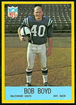 Bob Boyd 1967 Philadelphia football card