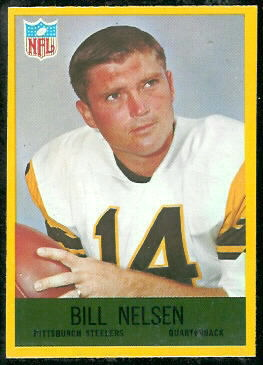 Bill Nelsen 1967 Philadelphia football card