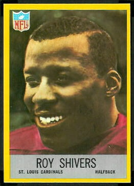 Roy Shivers 1967 Philadelphia football card