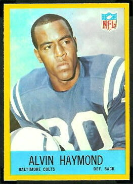 Alvin Haymond 1967 Philadelphia football card