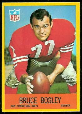 Bruce Bosley 1967 Philadelphia football card