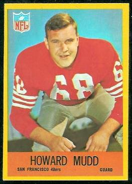 Howard Mudd 1967 Philadelphia football card