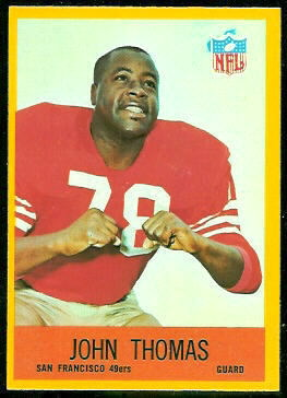 John Thomas 1967 Philadelphia football card