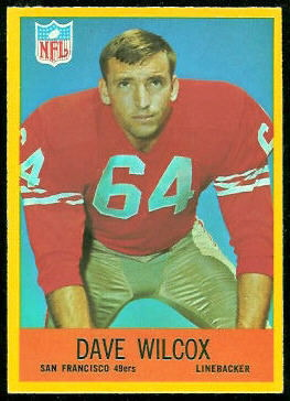 Dave Wilcox 1967 Philadelphia football card