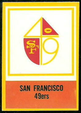 49ers Logo 1967 Philadelphia football card
